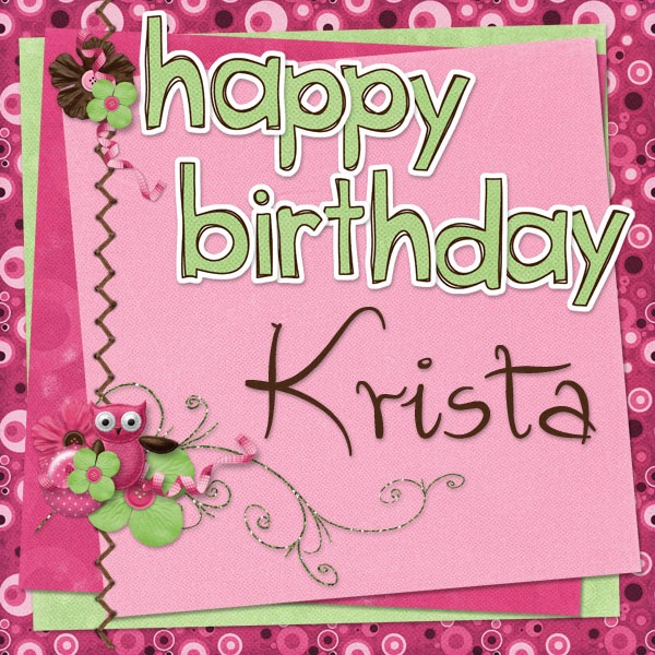 happy birthday krista