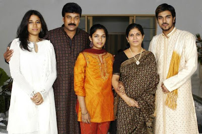 Telugu superstar Chiranjeevi Family Photos album