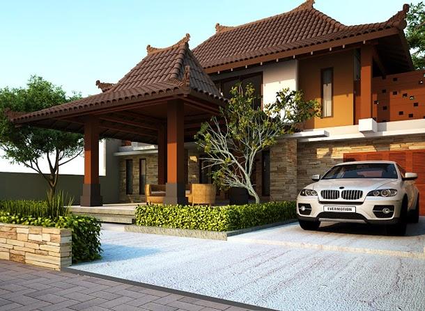 Desain Hunian Mewah Bergaya Rumah Joglo
