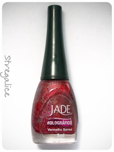 Jade Vermelho Surreal holographic red