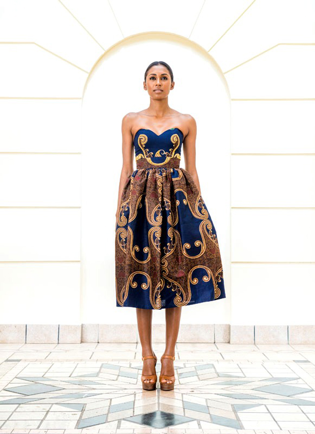 Taibo Bacar's F/W 2013 lookbook- Modern- African-print -style dress