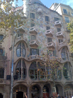 Casa Battlo by Gaudi in Barcelona, Spain