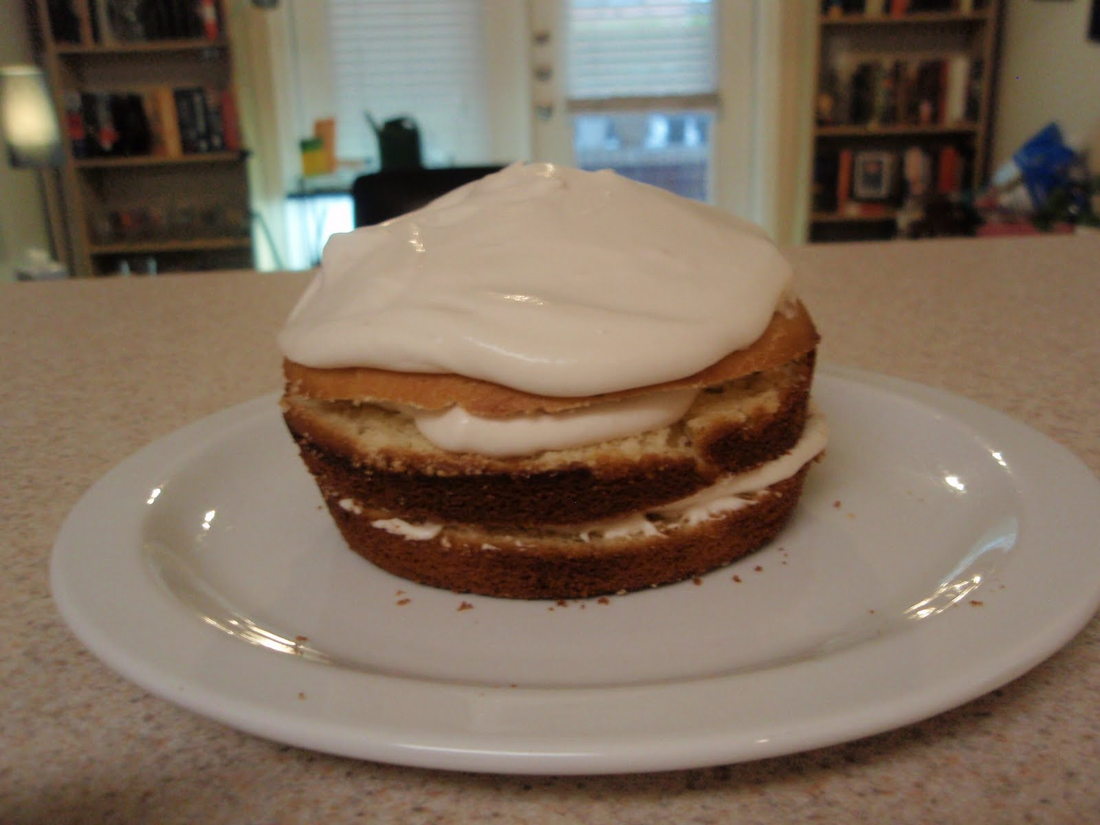 ... : Lemon-Thyme Olive Oil Cake with Balsamic Whipped Cream Frosting