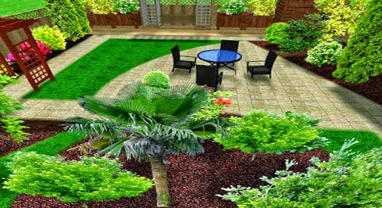 Simple Home Garden Sometimes There Are Also Only Makes The Grass Green Neatly Arranged And Using As Golf Park Or Ball Is