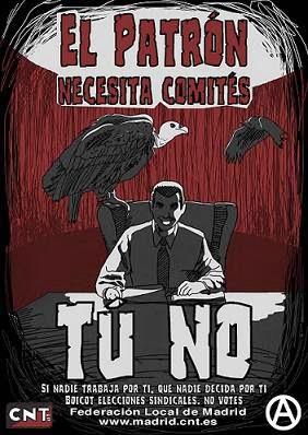 Campaña contra las elecciones sindicales