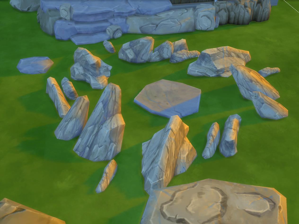 My Sims 4 Blog Rocks Go Through Maxis Mesh Edit By Artrui
