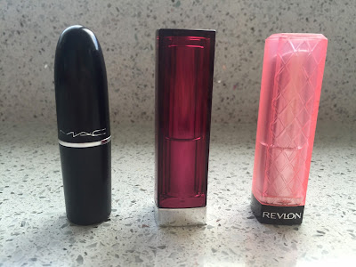 favourite summer lipsticks, mac, mac costa chic, review, maybelline, maybelline fuchsia flash, revlon, revlon strawberry shortcake, lipstick review,