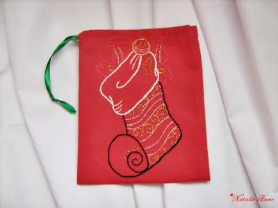 Woreczek Mikołajkowy z imieniem / Christmas the pouch with the name