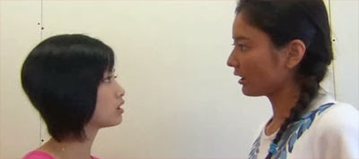Ueto Aya as Misaki and Harada Natsuki as Lisa, get into a heated argument.