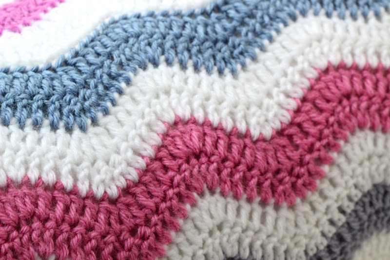 Free Pattern For Single Crochet Ripple Afghan : free double crochet ripple afghan pattern