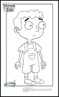 phineas and ferb baljeet tjinder coloring pages