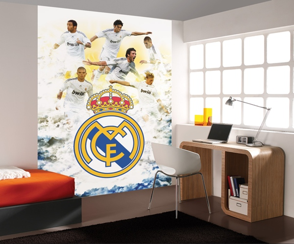Papel pintado fotomurales real madrid for Papel de decoracion para paredes