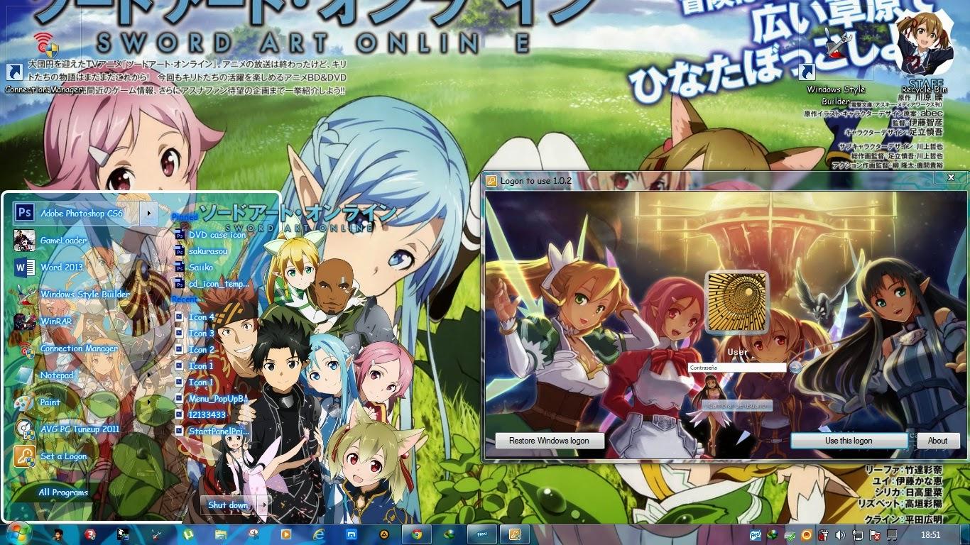 thème manga windows 10
