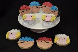 Princess and Pirates cupcake and cookies workshop.