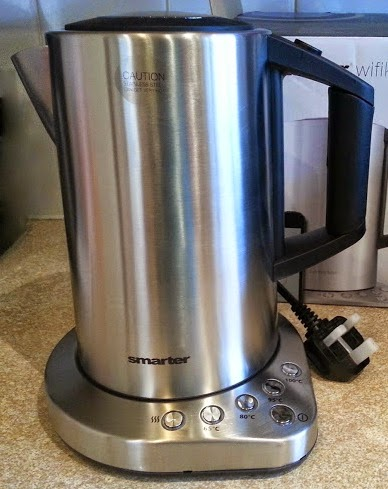 Menkind Smarter Wifi Kettle review brushed silver cordless kettle