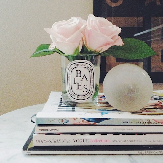 Diptyque baies candle as vase