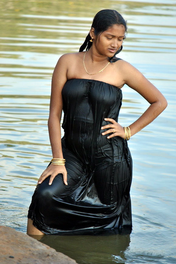 Indian Glamour girls in water and swiming dress