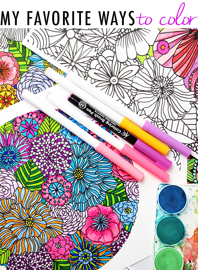 my favorite ways to color and a free coloring download - Colour Book Free Download