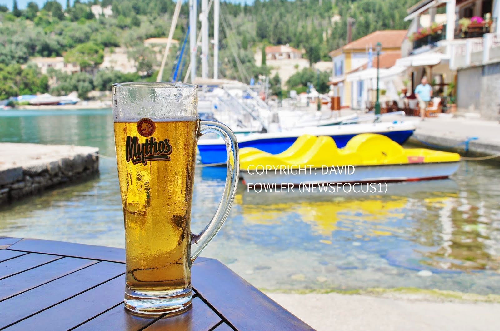 Mythos beer on Paxos island