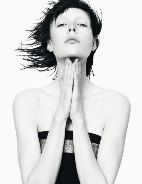 Edie Campbell black and white by David Sims