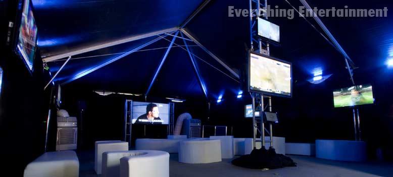 everything entertainment high tech black frame tent