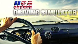 Screenshots of the USA driving simulator for Android tablet, phone.