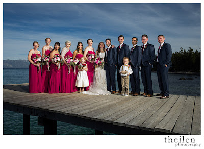 Fuchsia and grey bridal party l Theilen Photo l Take the Cake Event Planning