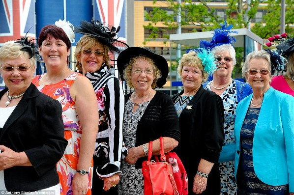 lovely and elegant ladies on Ladies' Day of Royal Ascot 2014