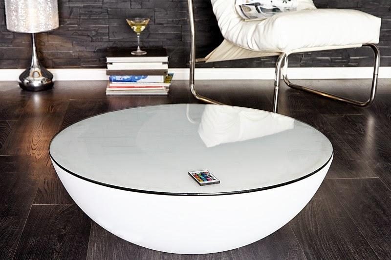 Luxusny stolik do obyvacky, stolik s podsvietenim LED, farebny stolik do obyvacky