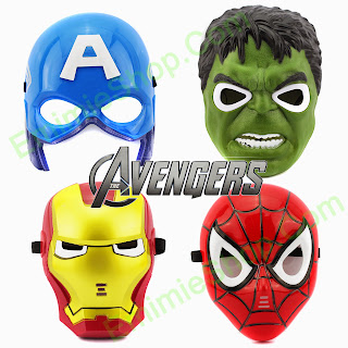Topeng Hulk, Captain America, Iron Man, SpiderMan