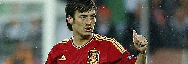David Silva at Euro 2012 playing for Spain