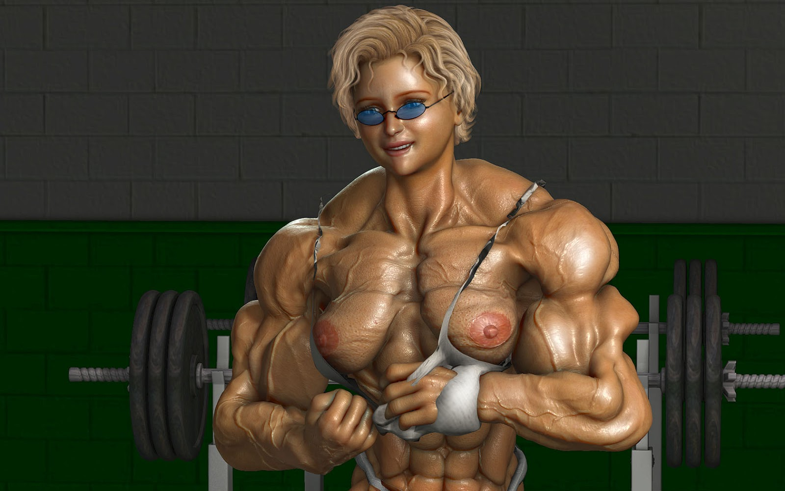 3d muscle girl nsfw girls