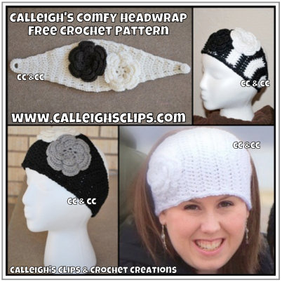 Calleighs Clips Crochet Creations Calleighs Comfy Headwrap