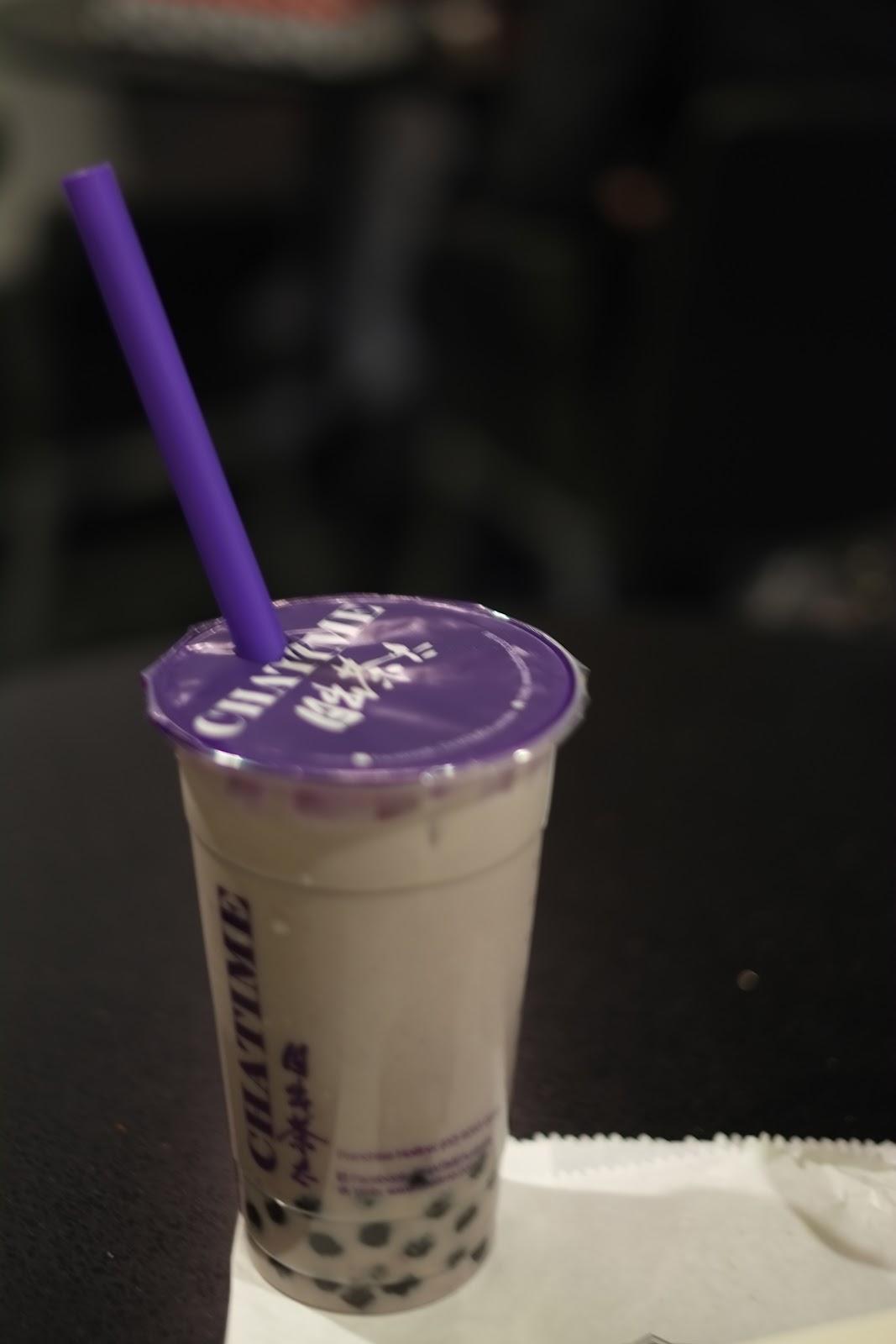 Chatime herbal tea - Bubble Tea Taro Flavour