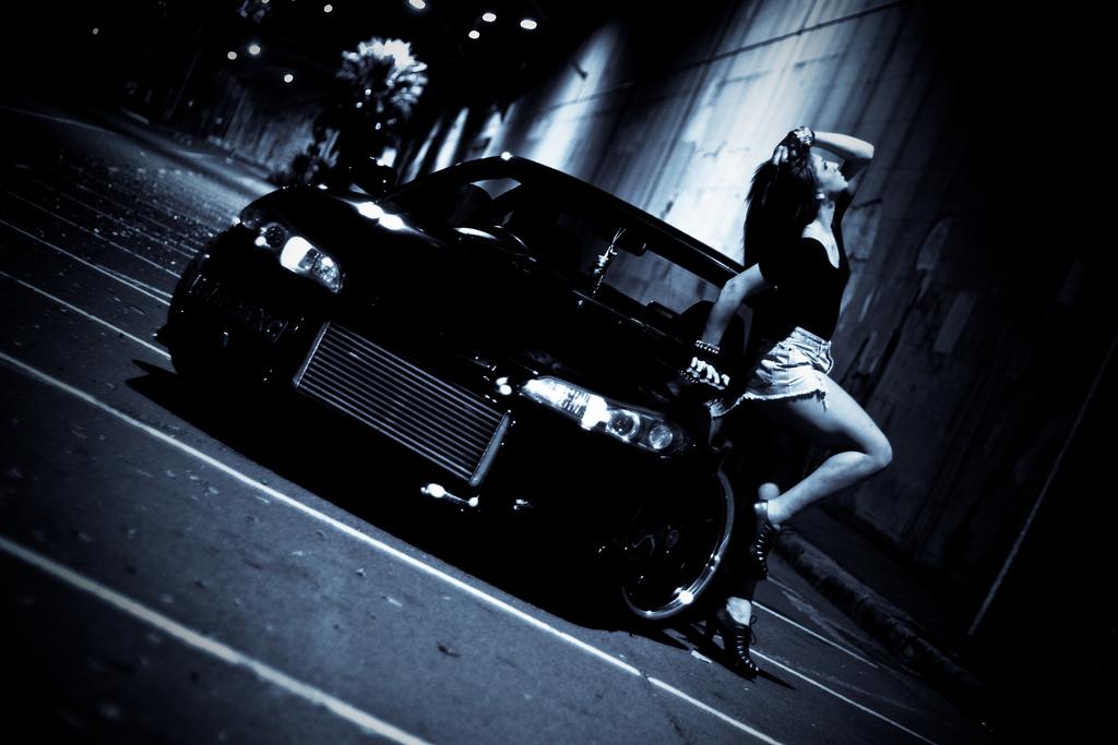 Nissan Silvia S15, nocna fotografia, samochody nocą, auta po zmroku, wieczorem, mrok, japońskie, motoryzacja, JDM, tuning, zdjęcia, photos, at night, cars, photography, 夜間撮影