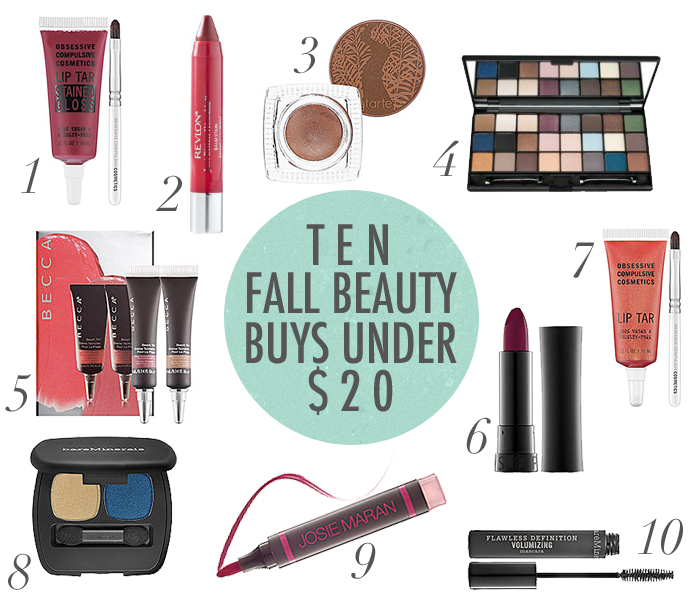 beauty products under $20, fall makeup products, fall makeup under $20, makeup tips for fall