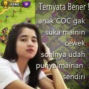 DP BBM Meme Cewek COC Lucu