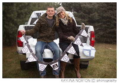 Winter Baby Announcement Photographer