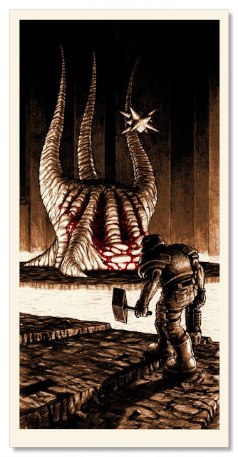 Boss Fight 2 Ode to Id Video Game Themed Screen Print Series by Nick Derington & Nakatomi - The Monster