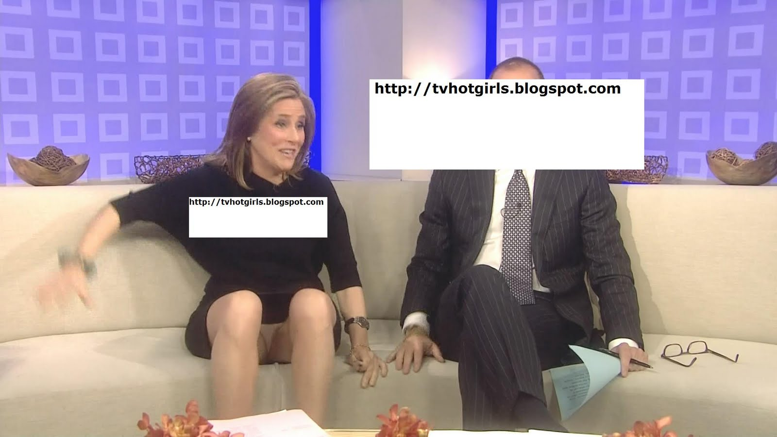 News anchor upskirts the