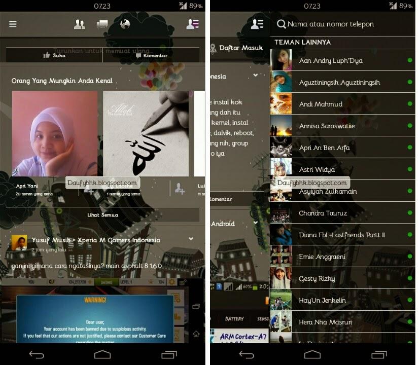 Aplikasi Facebook Mod Transparan