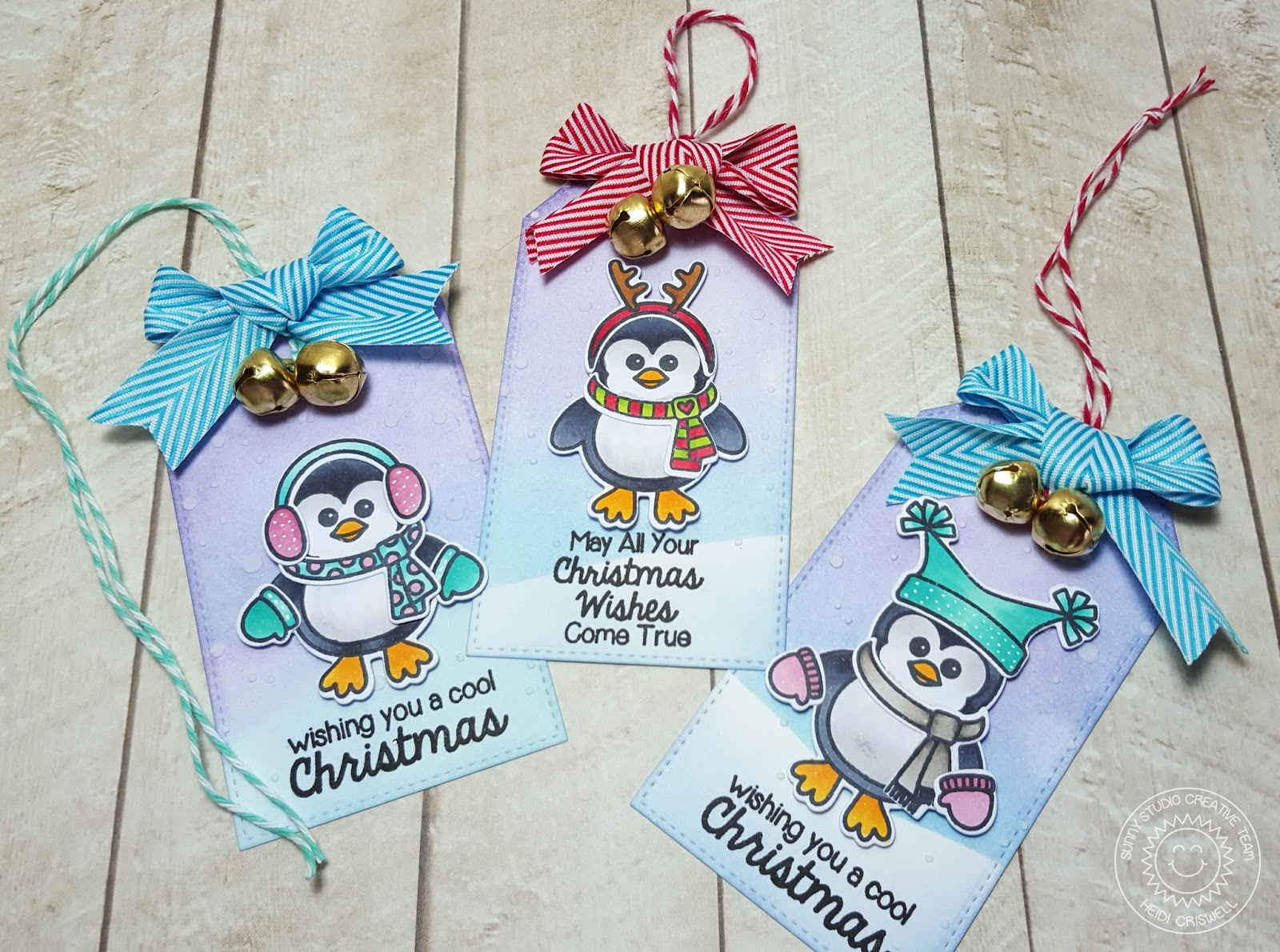 Crafty Time 4U: Bundle Up Tags Featuring Sunni Studio Stamps