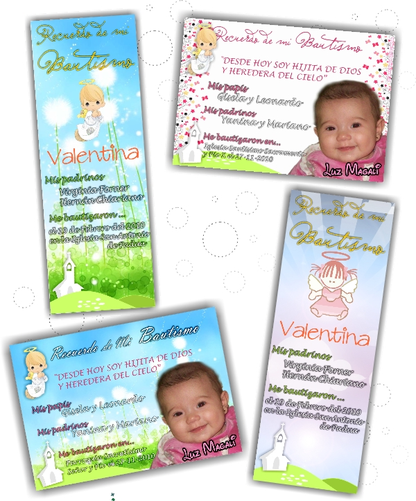 Tarjetas bautismo gratis para imprimir - Imagui