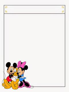 Caratulas para Niños mickey, Minnie y Pluto