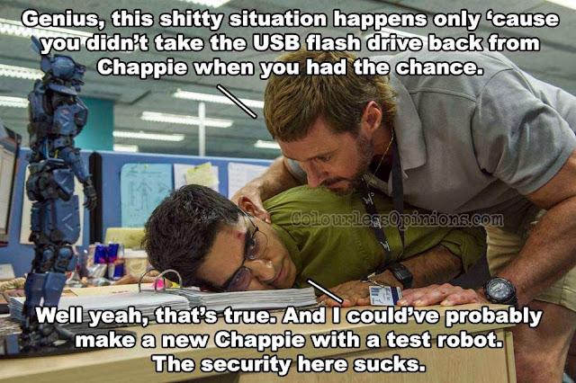 Chappie meme Dev Patel Hugh Jackman