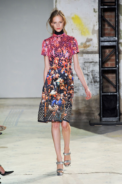 Proenza Schouler Spring/Summer 2013 studded crowd scene dress