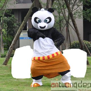 cho thuê thú rối gấu panda