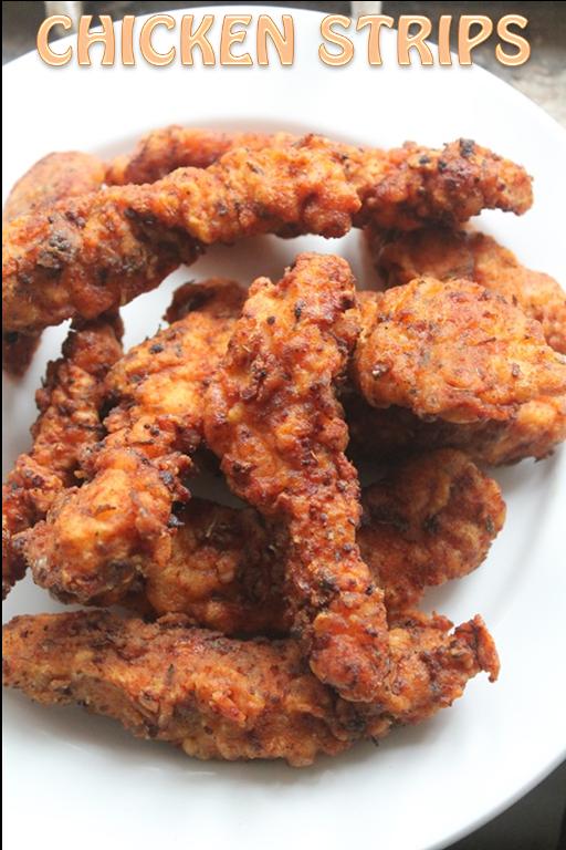 Spicy Chicken Strips Recipe Fried Chicken Tenders Recipe