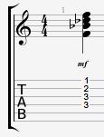 A# minor guitar chord