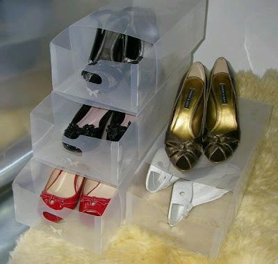 gambar kotak sepatu transparan